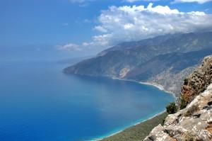 Randonnée sur la côte en Crète